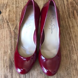 Jessica Simpson patent leather pumps